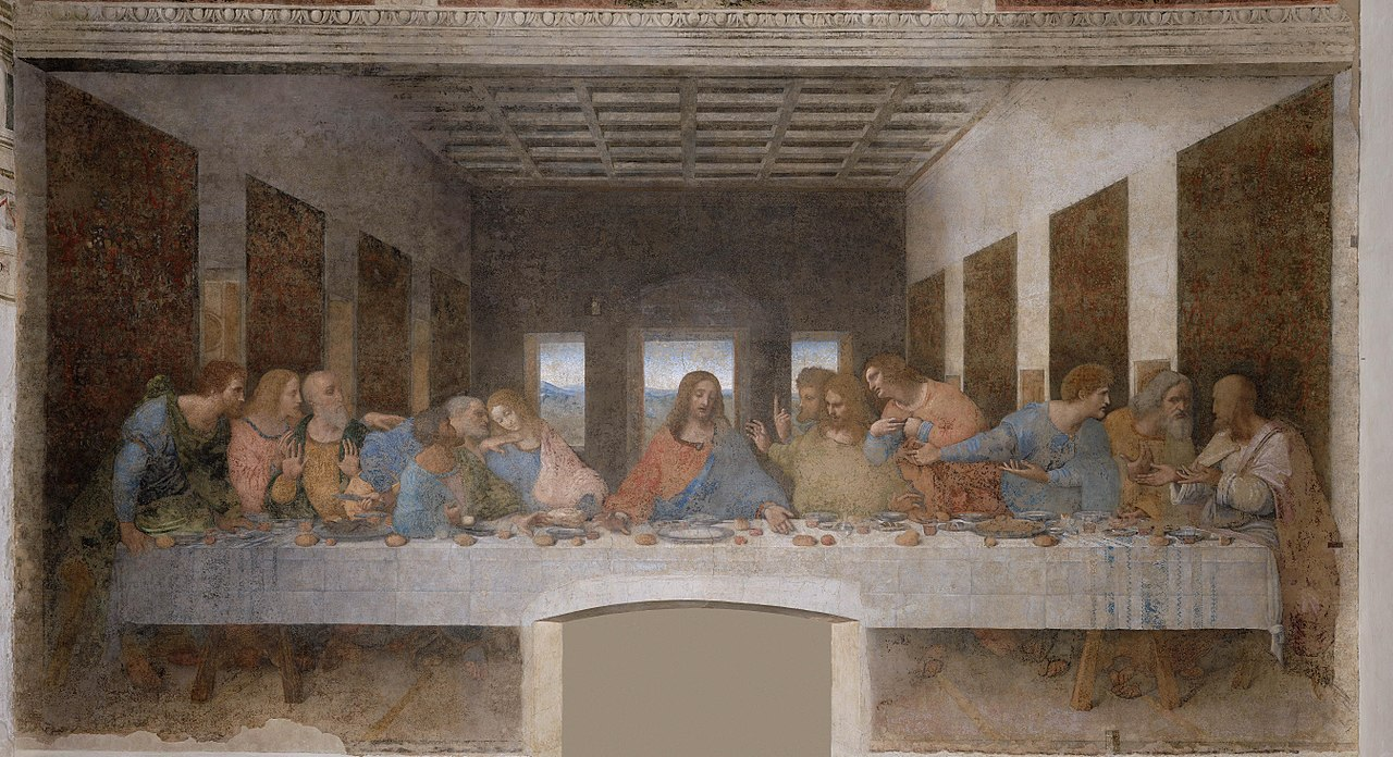 1280px Leonardo da Vinci The Last Supper high res